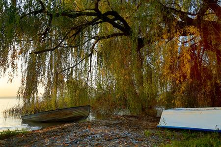 balaton: Boat on the beach from Hungary,Balaton lake