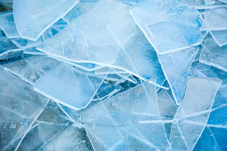 Frozen cracked ice background Stock Photo
