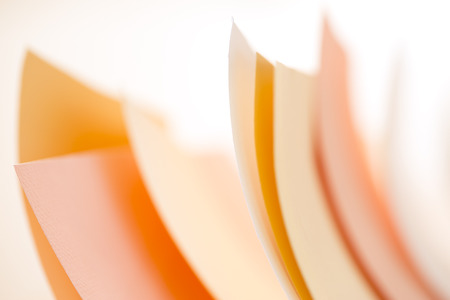 pastel shades: Colored sheets of paper