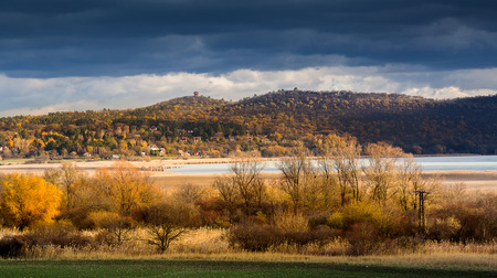 Lake Balaton and Tihany from Hungary, panorama photo Zdjęcie Seryjne