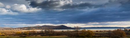 Lake Balaton and Tihany from Hungary, panorama photo Banque d'images - 93156717