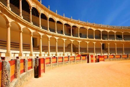 hemingway: bullfighting arena in Ronda, Spain