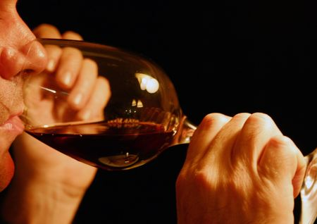 drinking red wine photo