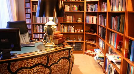 old home office: classical study in upscale house