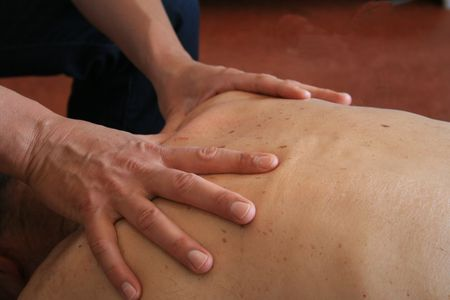 acupressure hands: massage