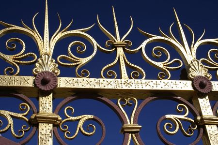 golden fence at Prince Albert Memorial in London photo