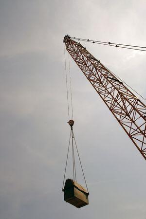 caes: Crane con gran objeto. Temo que pasar� cuando usted camina por.