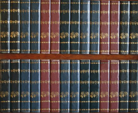 binding: empty red and blue book covers Stock Photo