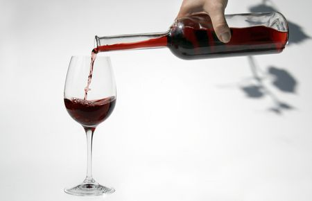 red wine from bottle into a glass Stock Photo - 1254702
