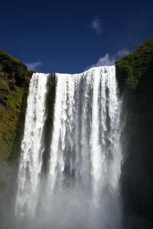 enormous: Enormous waterfall in Iceland