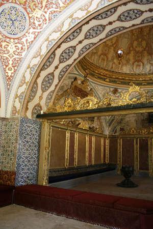 arredamento classico: All'interno del palazzo Topkapi a Istanbul Archivio Fotografico
