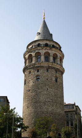 turkiye: Galata tower in Istanbul Stock Photo
