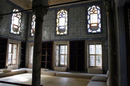 topkapi: Audience room at Topkapi palace in Istanbul