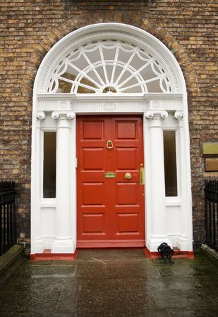 Georgian red door in Dublin Ireland Stock Photo - 2114509