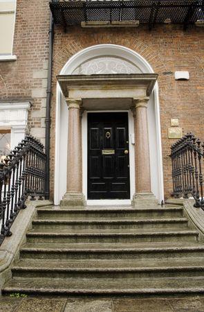 Georgian black Dublin door  photo