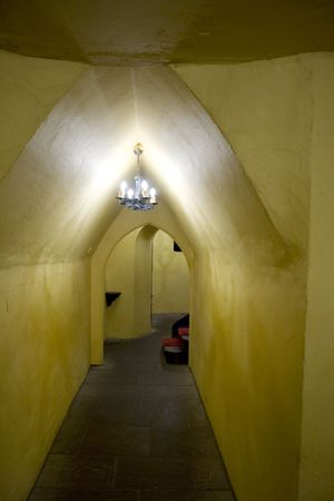 hallway of old renovated castle Stock Photo - 2139204