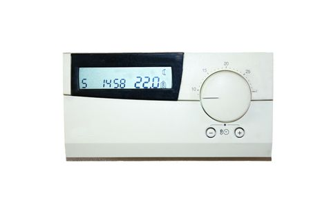 thermostat which indicates 22 degrees celsius photo