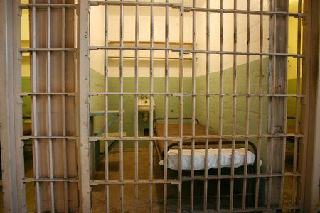 cellule prison: int�rieur par des barres de cellules d'Alcatraz
