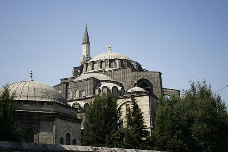 mehmed: grey mosque in center of Istanbul