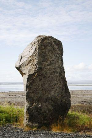 eiszeit: Old Rock transportiert mit Gletschereis in der Eiszeit