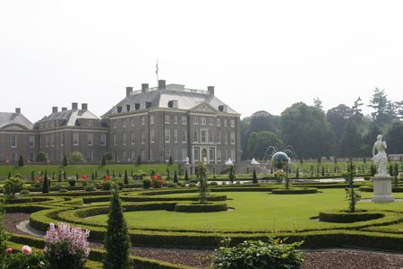 loo: Beautiful royal palace het Loo with gorgeous gardens Stock Photo
