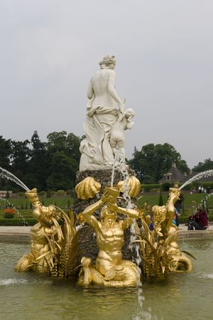loo: Reconstruction of the 17th century Fountain of Venus at Royal palace Het Loo in the Netherlands