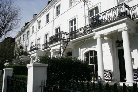 Beautiful row of Edwardian s in Kensington London photo