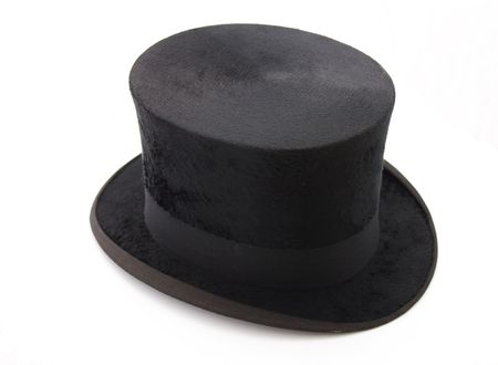 black top hat isolated on white