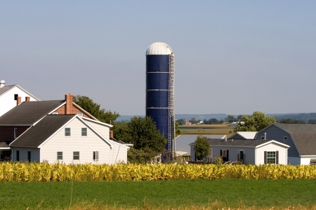 amish: Typical Amish farm in Lancaster county in Pennsylvania USA without electricity.