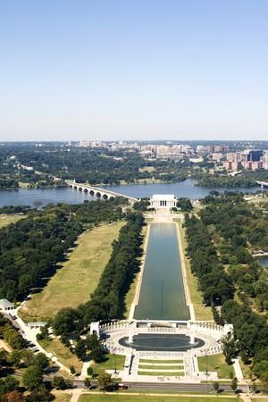 High angle view from washington monument on Washington DC photo