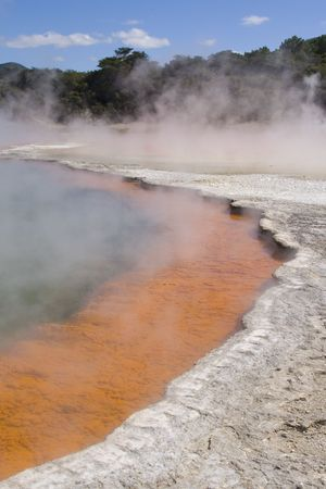 Champagne Pool at Waiotapu Thermal Wonderland in New Zealand photo