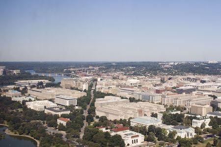 Aerial view on washington dc photo