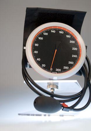 blood pressure gauge: Blood pressure gauge in close up
