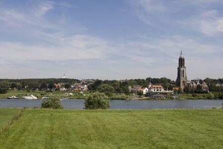 utrecht: View on the old town of rhenen in Utrecht in the Netherlands