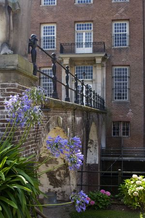 17th: Two entrances, for guests and for servants at 17th century castle Amerongen in the Netherlands