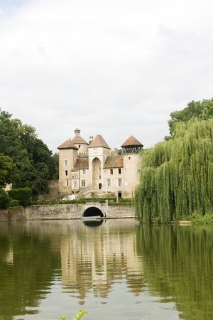 French castle and pond