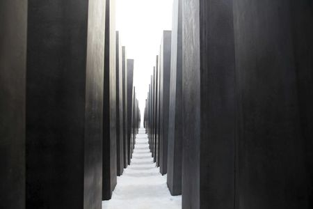 holocaust: Part of the Holocaust Monument in Berlin Editorial