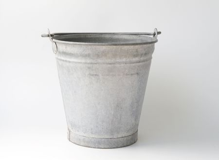 zinc: Oldfashioned zinc bucket