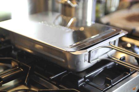 Stainless steel smoker oven photo