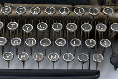 delete: Old fashioned typewriter keys in a close up