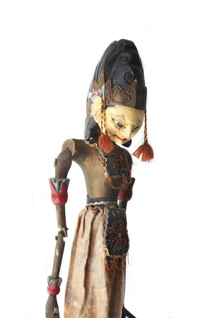 indonesia culture: Upper part of Indonesian wajang golek puppet Stock Photo
