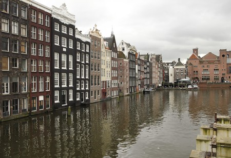 Canal houses in Amsterdam photo