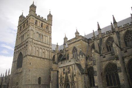 devon: View on exeter cathedral in Devon