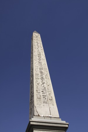 Egyptian obelisk at the Place de la Concorde in paris Stock Photo - 7930938