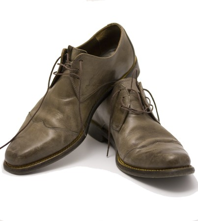 Brown leather mens shoes photo