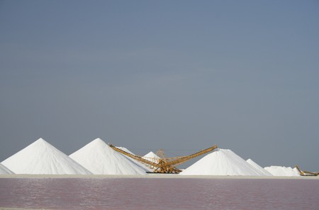 bonaire: Salt industry on Bonaire Stock Photo
