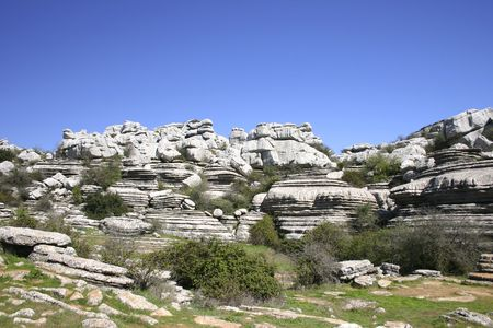 El Torcal de Antequera is a nature reserve in the Sierra del Torcal mountain range in southern Spain.It is known for its unusual landforms, and is one of the most impressive karst landscapes in Europe photo