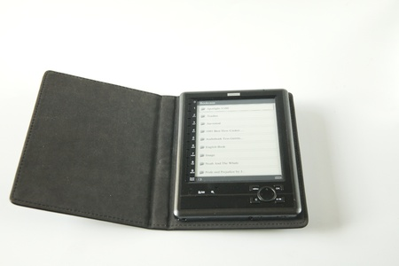 Ebook with leather holder Stock Photo - 8360131