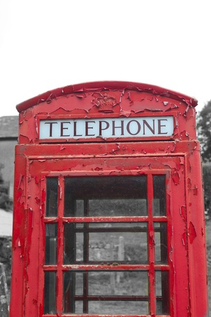 Typical British red telephone box photo