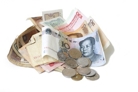 yuan: chinese yuan in coins and bills